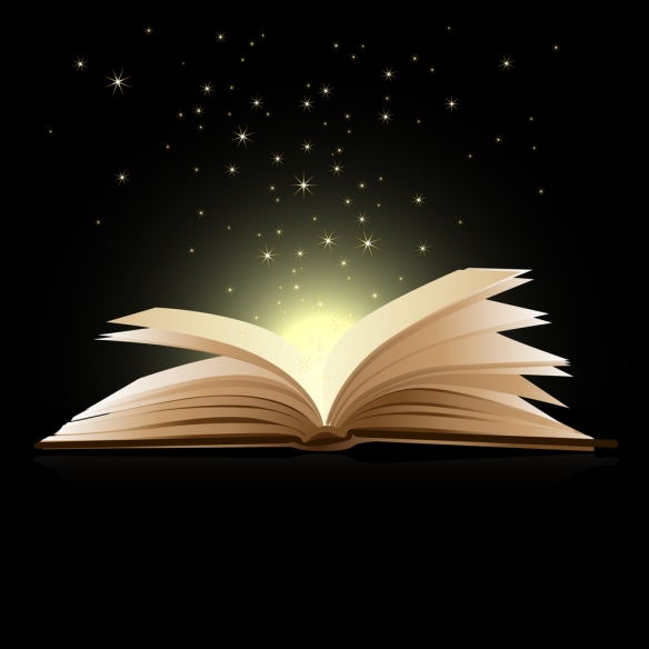 bigstock-Open-book-magic-Education-co-16500998