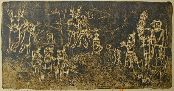 Frijoles-Canyon-Pictographs-by-Gustave-Baumann