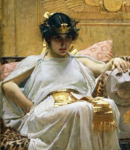 UNSPECIFIED - CIRCA 2003: Cleopatra, ca 1888, by John William Waterhouse (1849-1917), oil on canvas, 65x56 cm. 19th century. (Photo by DeAgostini/Getty Images)